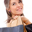 Beautiful shopping girl — Stock Photo #7752425