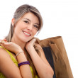 Stock Photo: Beautiful shopping girl