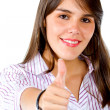 Business womwith thumbs up — Stock Photo #7752466