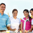 Group of golf players — Stock Photo #7752468