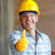 Royalty-Free Stock Photo: Construction worker with thumbs up