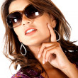 Fashion woman wearing sunglasses — Stockfoto