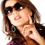 Fashion woman wearing sunglasses — Stock Photo