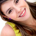 Beautiful woman smiling — Stock Photo