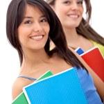 Beautiful female students — Stock Photo