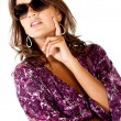 Stock Photo: Fashion woman with sunglasses