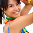 Woman with colorful accessories — Stock Photo #7752746