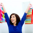 Happy shopping Frau — Stockfoto