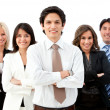 Stock Photo: Man leading a business team