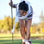 Woman playing golf — Stock Photo #7752878