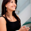 Business woman clapping - Stock Photo