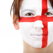 English flag portrait - Stock Photo