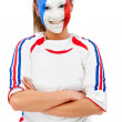 French flag portrait — Stock Photo