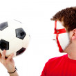 English football fan — Stock Photo