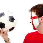 英语足球迷 — 图库照片