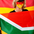 German flag portrait — Stock Photo