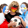 Football fans portrait — Stock Photo