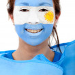 Argentinian flag portrait — Stock Photo #7753012