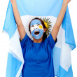Argentinian flag portrait — Stock Photo