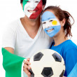 Football fans portrait — Stock Photo #7753017