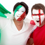 Football fans portrait — Stock Photo