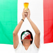 Italian flag portrait — Stock Photo