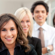Business woman leading a team — Stock Photo #7753101
