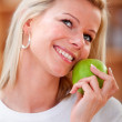 Healthy eating woman - Stock Photo
