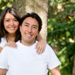 Family portrait - brother and sister — Stock Photo