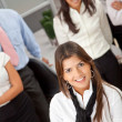 Business woman leading a team — Stock Photo #7753170