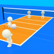 3D playing volleyball - Foto Stock