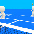 Stock Photo: 3D playing tennis