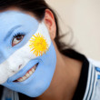 Argentinian flag portrait - Stock Photo