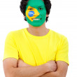 Brazilian flag portrait — Foto Stock