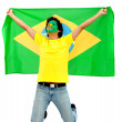 Stock Photo: Braziliflag portrait