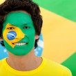 Braziliflag portrait — Stock Photo #7753238