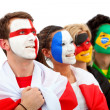 Football fans portrait — Stock Photo #7753244