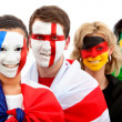 Stock Photo: Football fans portrait
