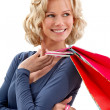 Shopping woman smiling - Stock Photo