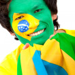 Brazilian flag portrait — Stock Photo
