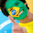 Brazilian flag portrait — Stock Photo #7753385