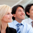 Business group smiling — Stock Photo
