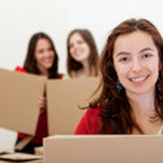 Girls moving — Stock Photo