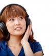 Woman with headphones — Stock Photo #7753599