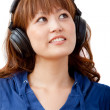 Woman with headphones — Stock Photo #7753600