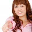 Woman with thumbs up — Stock Photo #7753605