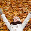 Happy autumn woman — Stock Photo #7753615