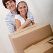 Royalty-Free Stock Photo: Couple moving