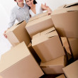 Stockfoto: Couple moving