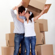 Couple moving — Foto de Stock